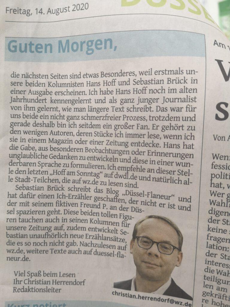 Kolumnen Hans Hoff und Sebastian Brück