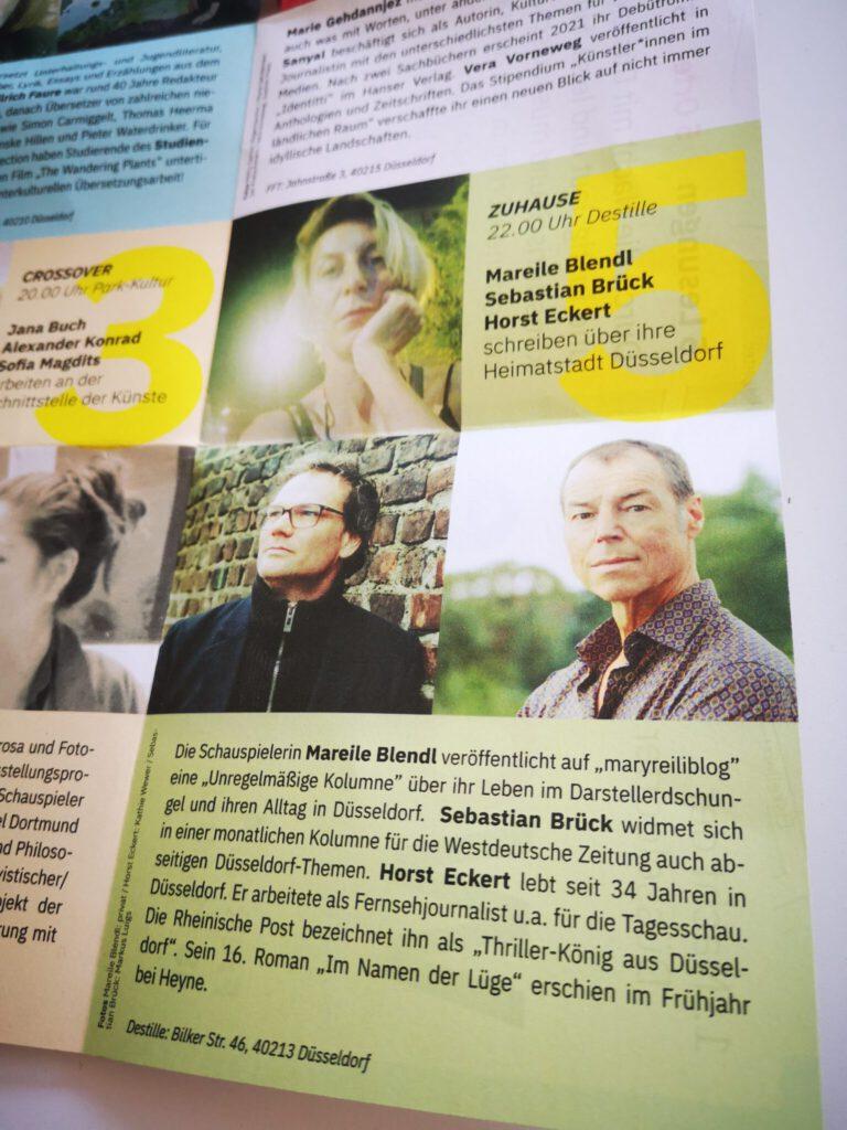1. Festival der Düsseldorfer Literatur